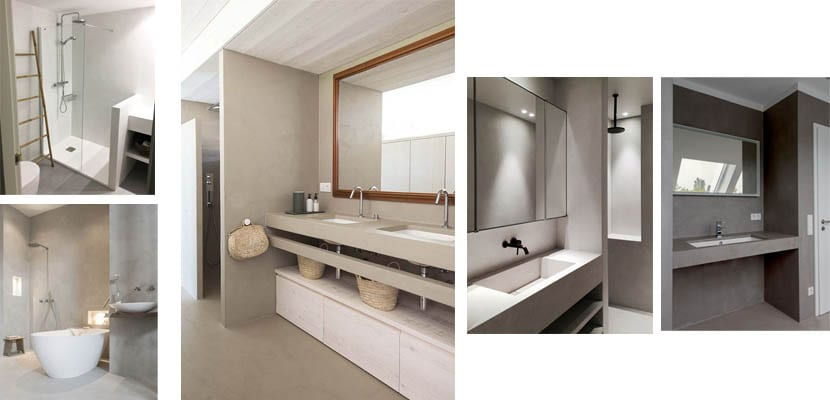Microcement in bathrooms