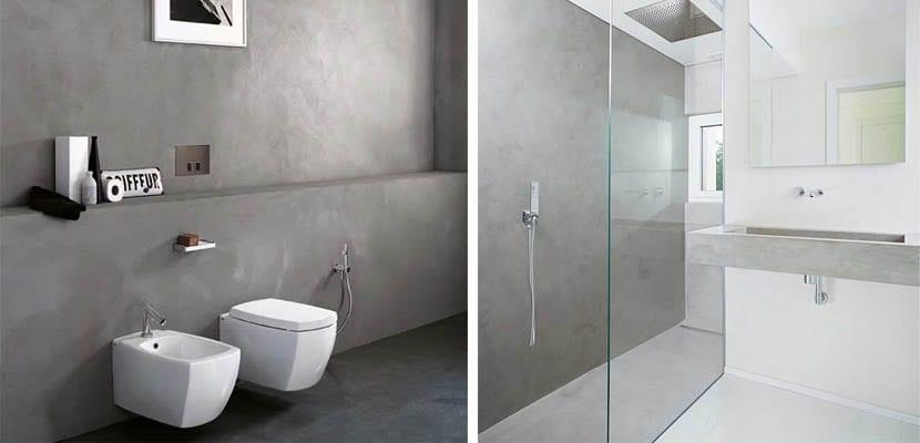 Microcement baths