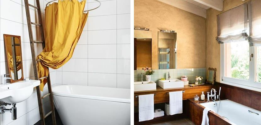 Ocher color in the bathroom