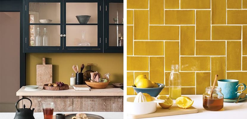 Ocher color in the kitchen