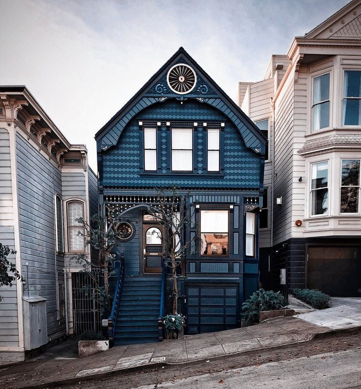 San Francisco House Rentals: San Fancisco Architecture : The Rainbow Houses Of San