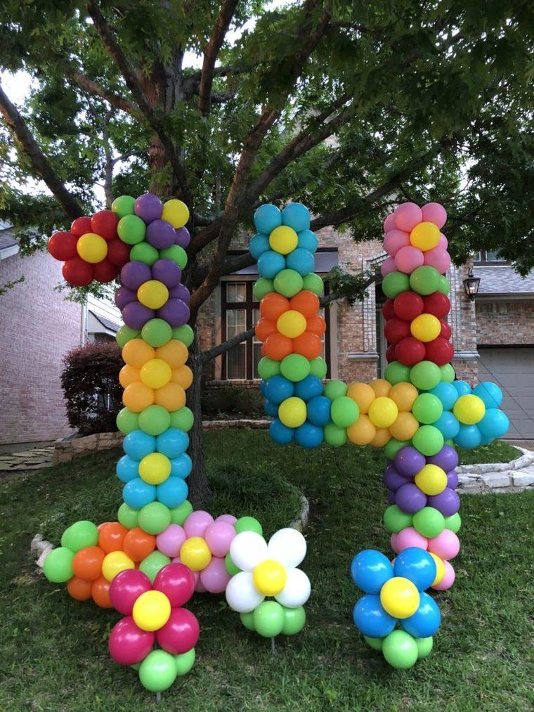 numerous balloons