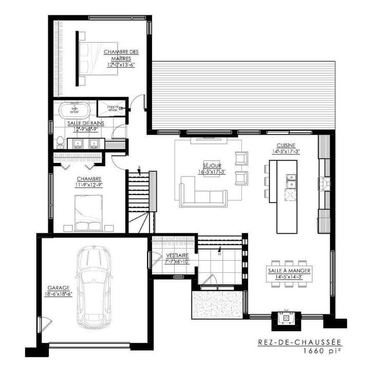 Home Architecture Plan De Maison Moderne ë137