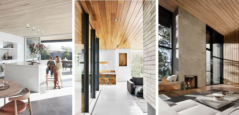 Linear wood ceilings