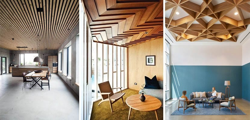 Modern wooden ceilings