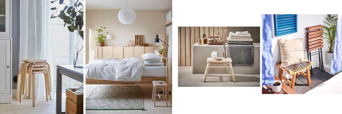 Ikea low stools