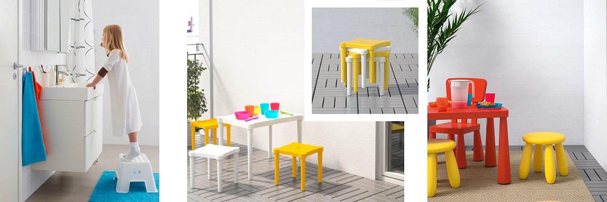 Ikea stools for children