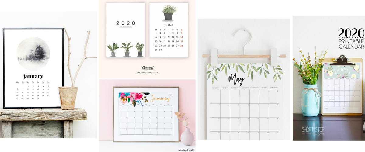 Printable floral calendars