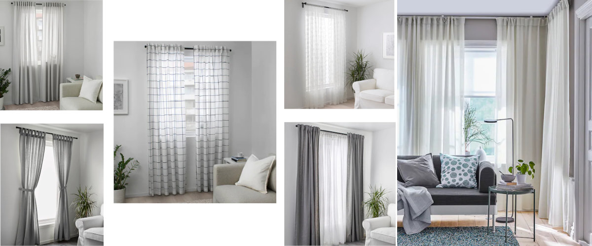 Ikea translucent curtains