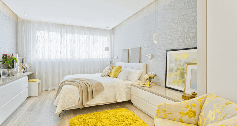 yellow interior decoration