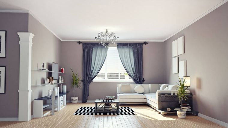 gray interior decoration
