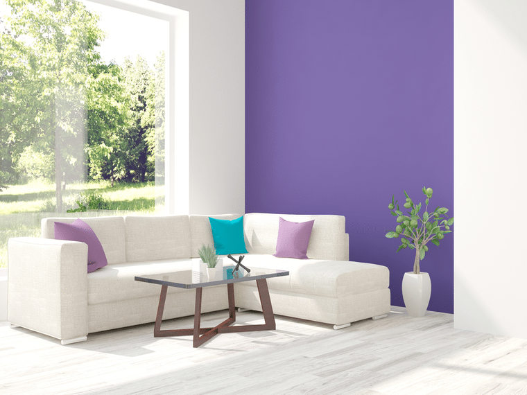 lilac interior decoration