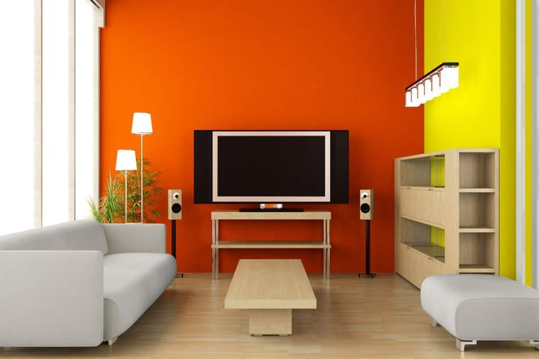 orange interior decoration