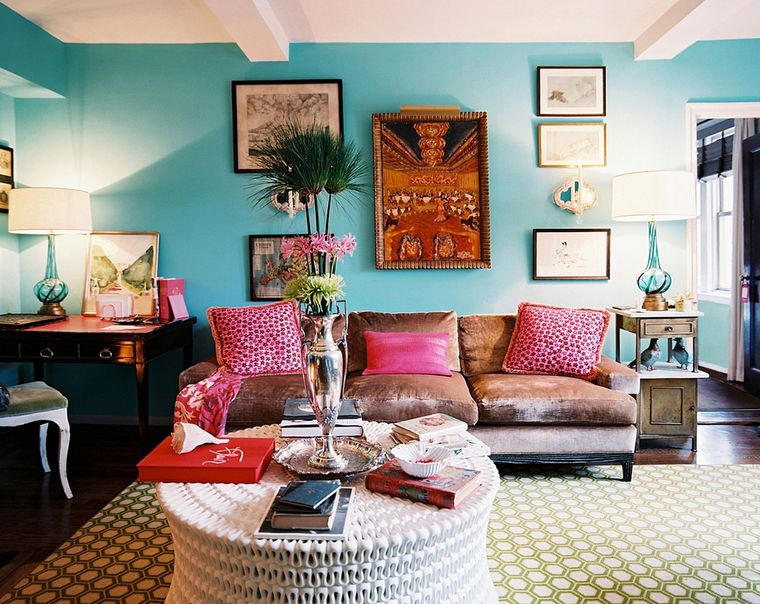 blue bohemian decoration styles