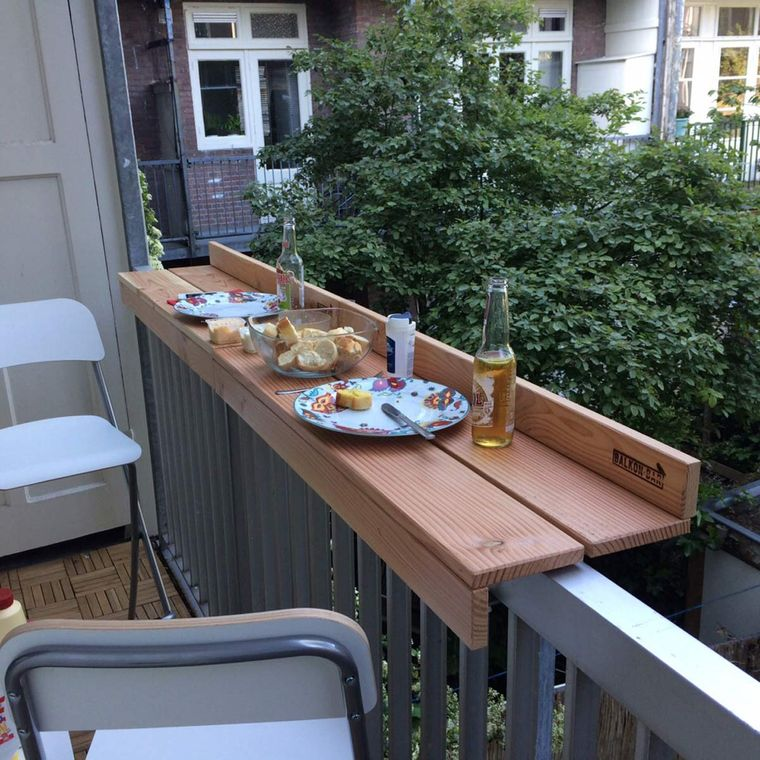 decorate balcony small bar dinner