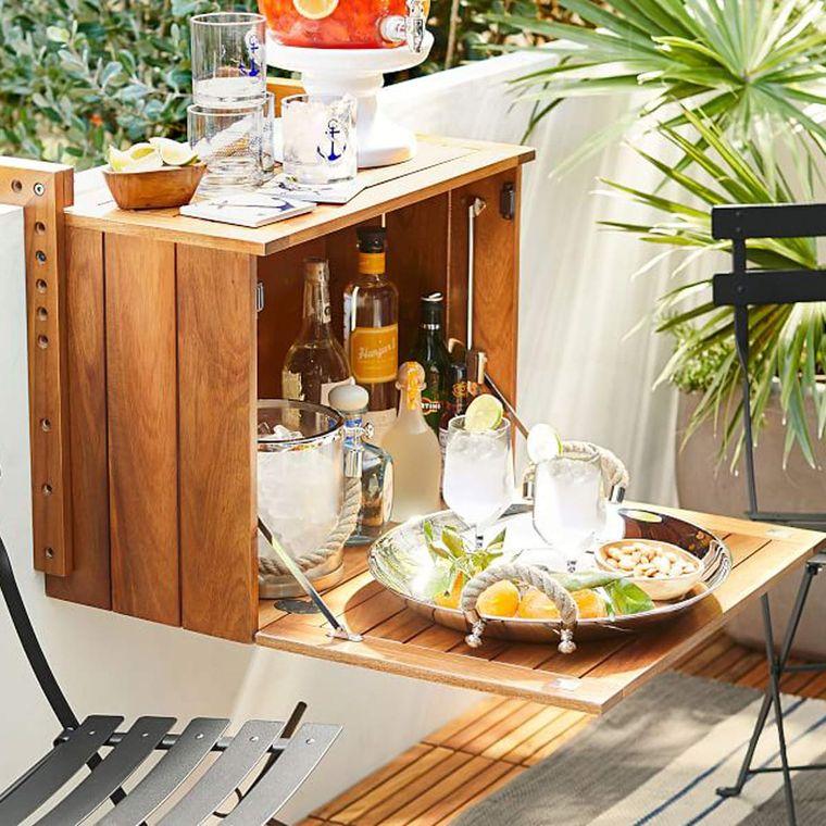decorate balcony small cabinet