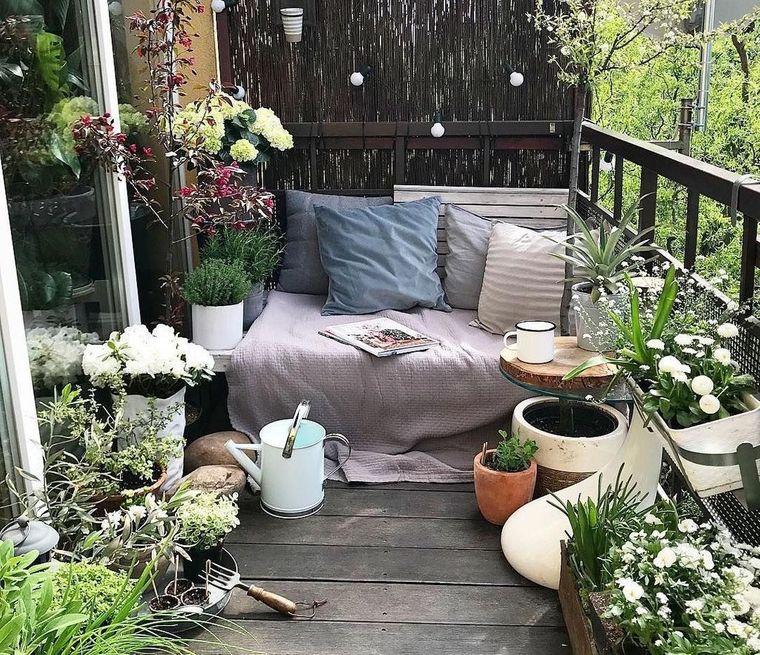 decorate balcony small garden