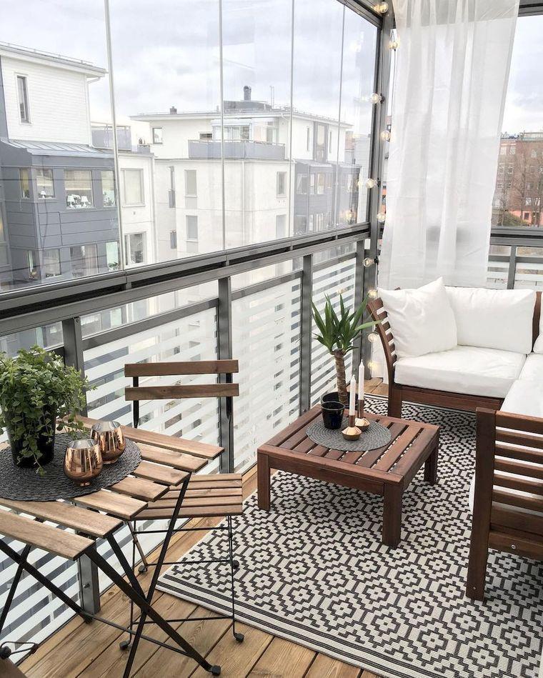 decorate light small balcony