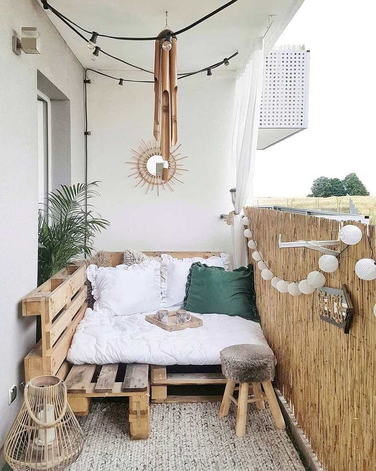 decorate natural small balcony