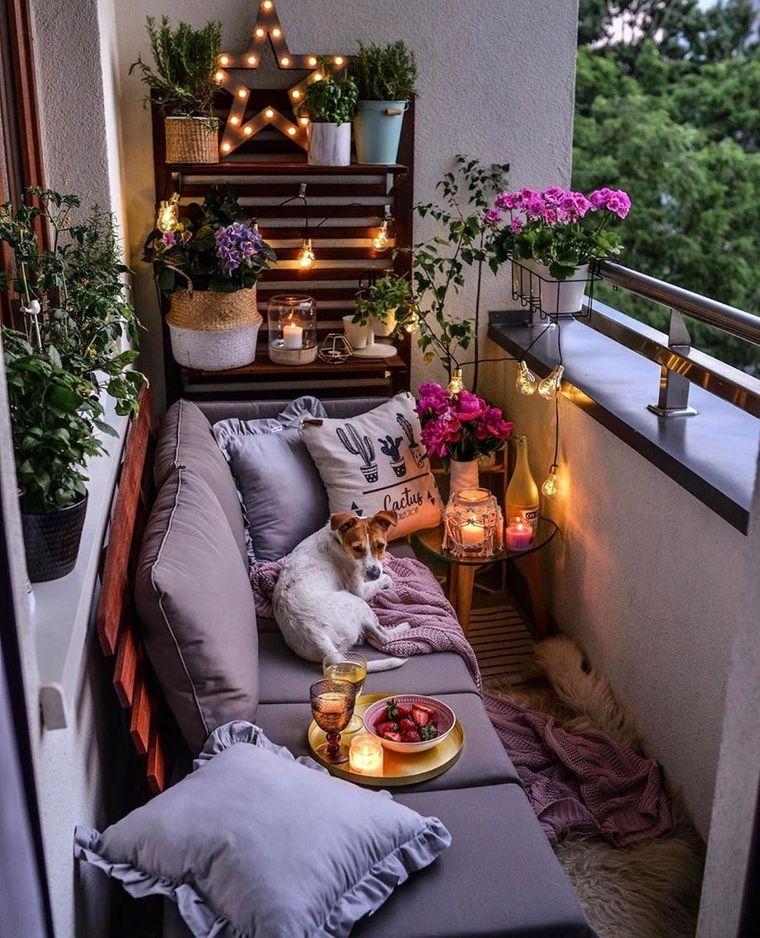 decorate small romantic balcony
