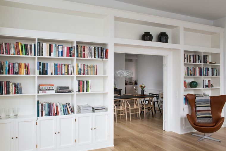 white modern shelves