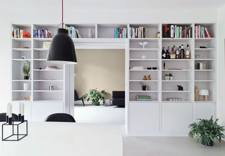 modern shelves decoration