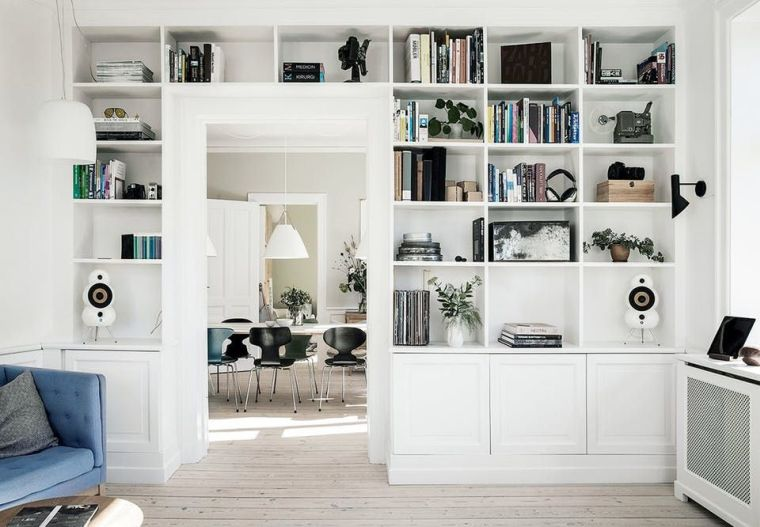 modern shelves home