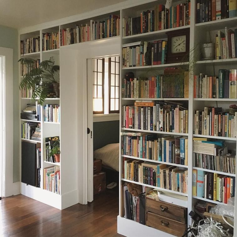 modern shelves books