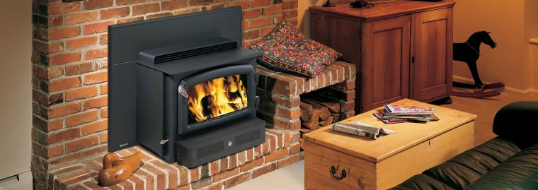 built-in brick wood stoves
