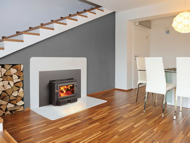 built-in wood stoves