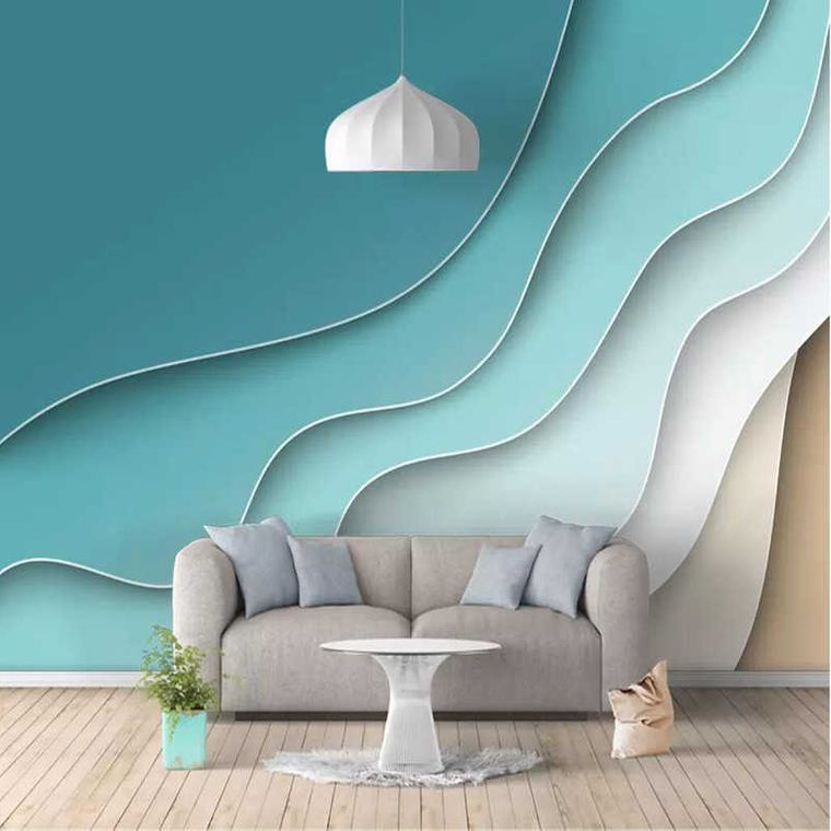 embossed wave wallpaper