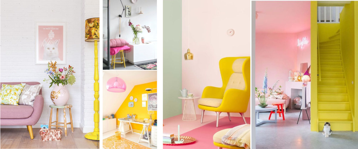 Rooms in pink and yellow