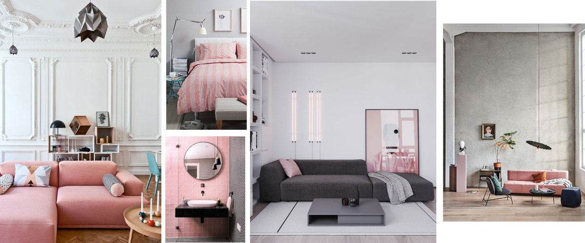 Decoration in pink and neutral tones