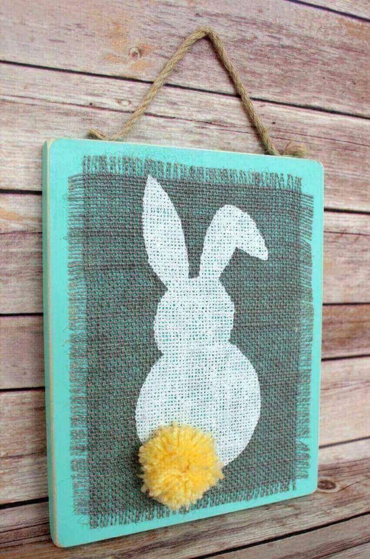 simple bunny spring decoration