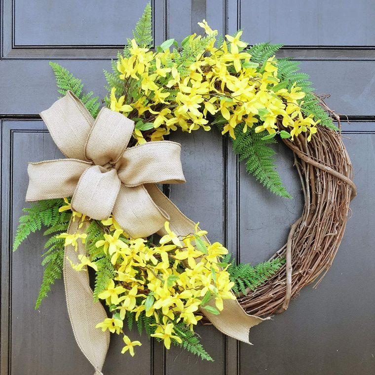 decoration spring wreath burlap