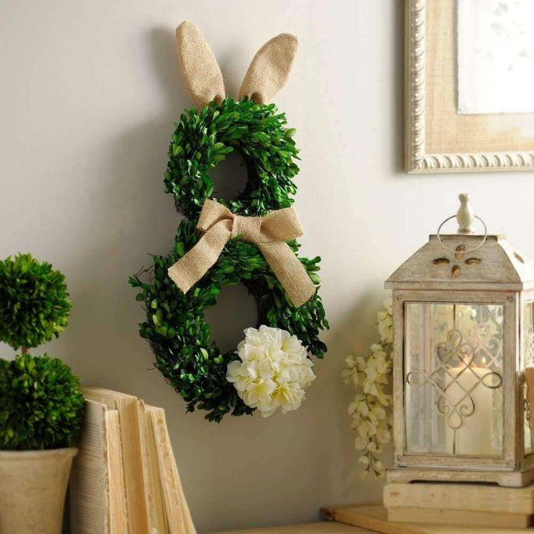 spring decoration crown rabbit