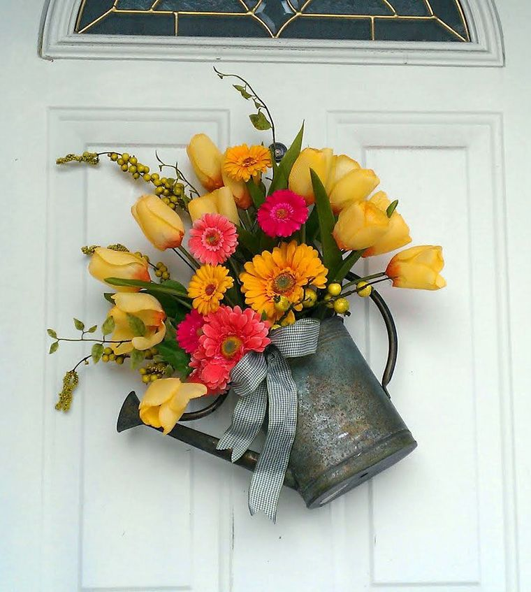 spring decoration watering can