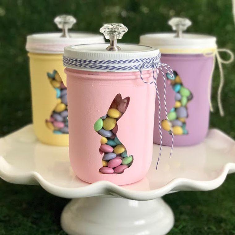 decoration spring jars rabbit