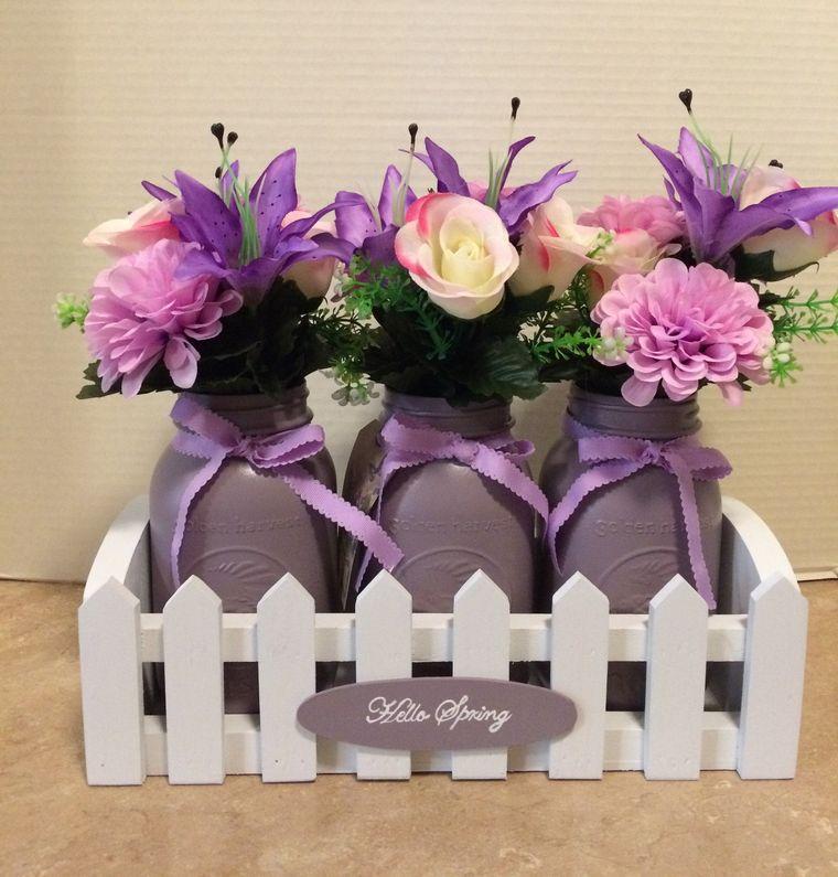 decoration spring wooden jars