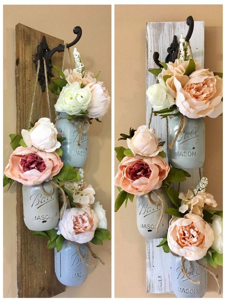 mason jars spring decoration