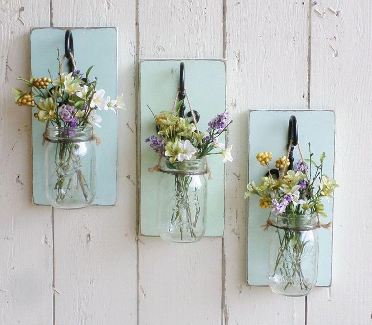 spring decoration jars