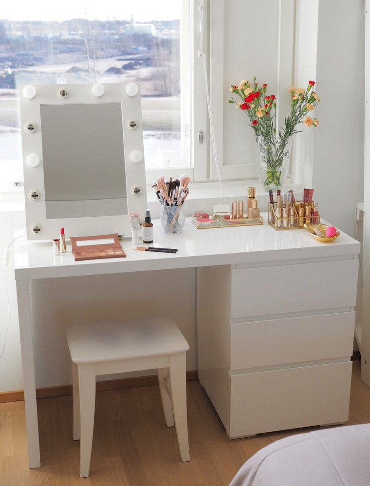 white dresser with drawers