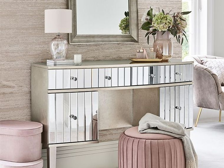 dressing table with different drawers