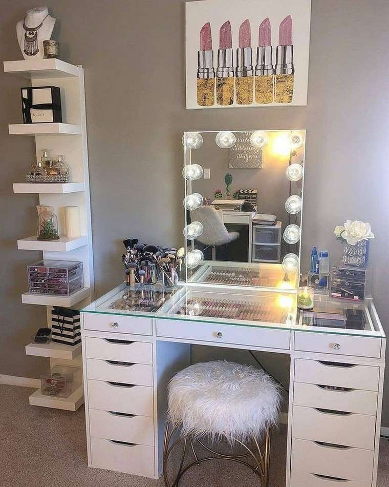 lighted dresser with drawers
