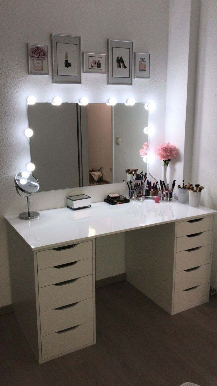 dresser with drawers lights