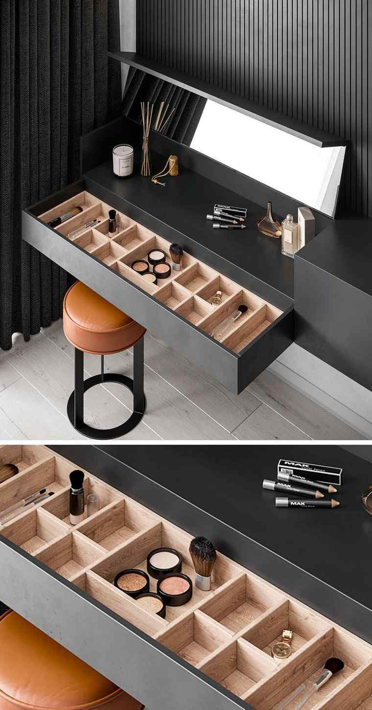 makeup dresser with drawers