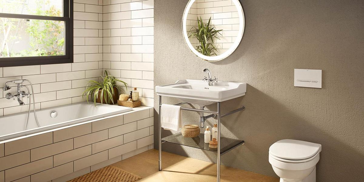 Tiles in the bathroom