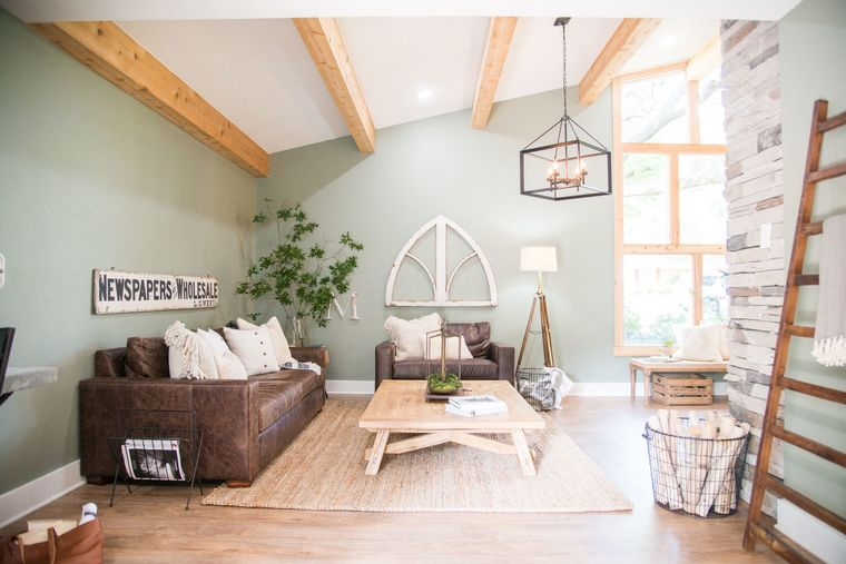 green color with wood