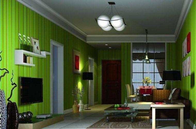 green color interior home