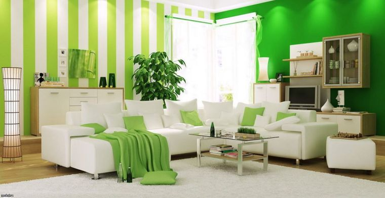 green color different patterns